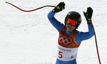 Η Σοφία Γκότζια το χρυσό μετάλλιο στην κατάβαση