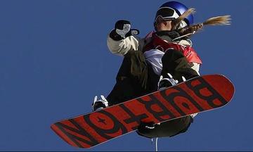 «Χρυσή» η Γκάσερ στο big air της χιονοσανίδας