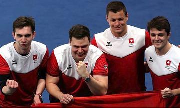 Η Ελβετία το χάλκινο μετάλλιο στους άνδρες στο Κέρλινγκ