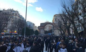 Tο συλλαλητήριο των οπαδών του ΠΑΟΚ στην Καμάρα (vid)
