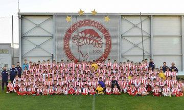 """Οι σχολές του συλλόγου εύχονται """"χρόνια πολλά"""" στoν Ολυμπιακό (vid)"""