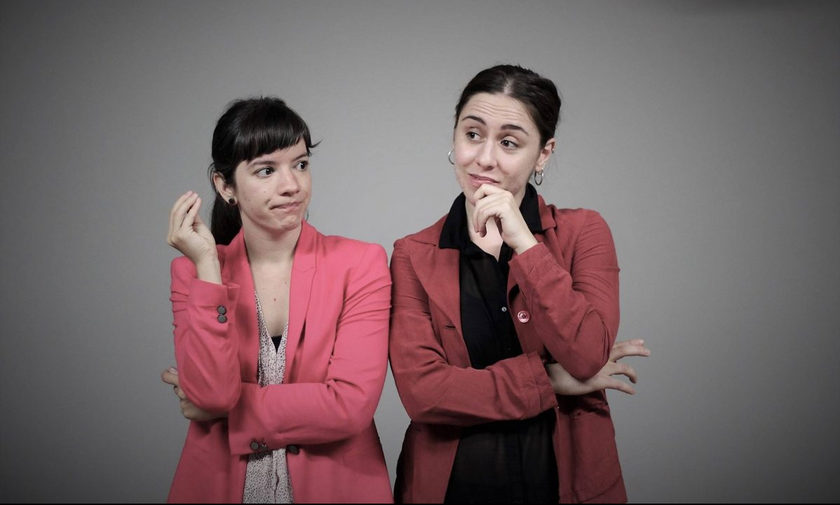 Μυρτώ Δελημιχάλη και Κωνσταντίνα Μπάρκουλη στο Κέντρο Ελέγχου Τηλεοράσεων