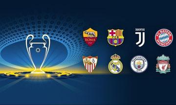 """Στη 1 μ.μ η κλήρωση των """"8"""" του Champions League"""
