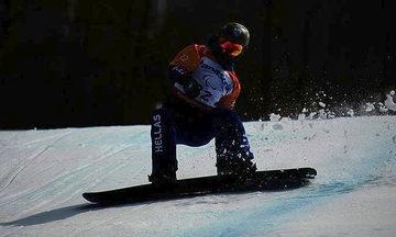 O Πετράκης στην 19η θέση στο Banked Slalom