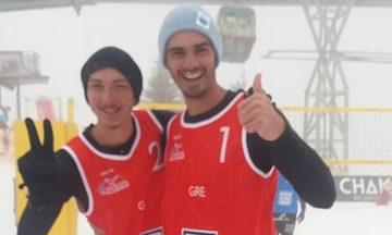 Snow Volley: Έγραψαν ιστορία Κοτσιλιανός - Ιωαννίδης