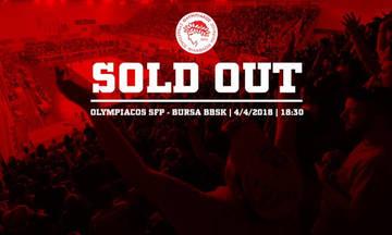 SOLD OUT ο τελικός Ολυμπιακός - Μπούρσα!