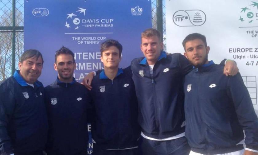 Κύπελλο Ντέιβις: Η Ελλάδα νίκησε τη Λετονία