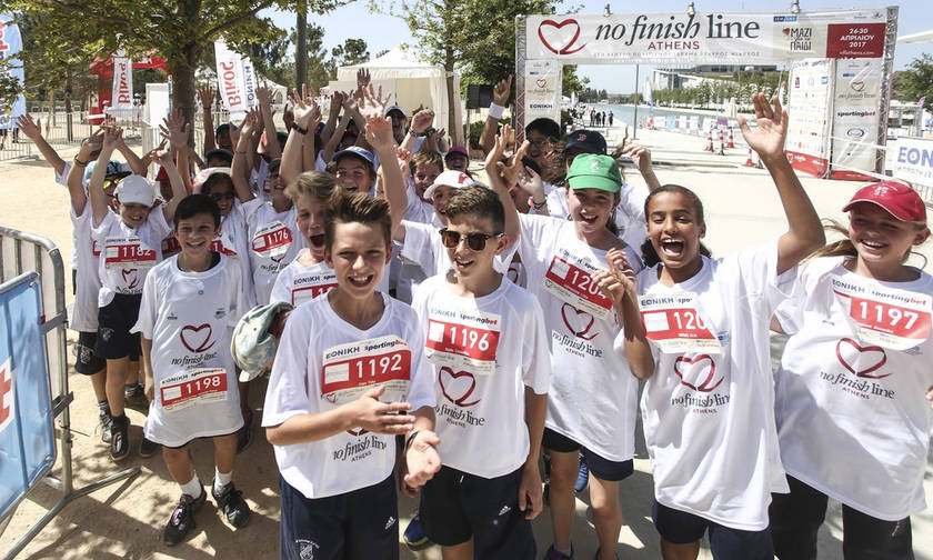 Το No Finish Line της Αθήνας τρέχει για το «Μαζί για το Παιδί»!