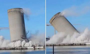 Αυτή η κατεδάφιση πύργου δεν ήταν διόλου ελεγχόμενη (vid)
