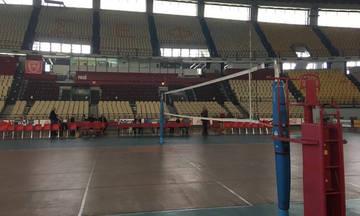 Έτοιμο το ΣΕΦ για τον τελικό Ολυμπιακός-Ραβένα(pics)