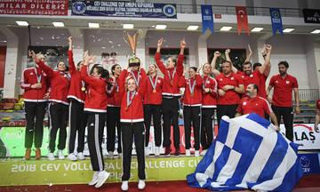 Συγχαρητήρια ΣΥΡΙΖΑ στις αθλήτριες βόλεϊ του Ολυμπιακού για την κατάκτηση του Challenge Cup