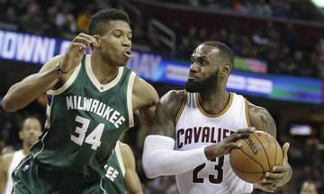 "NBA: Τα καλύτερα του πρώτου γύρου με Γιάννη και ""Βασιλιά"" (vid)"
