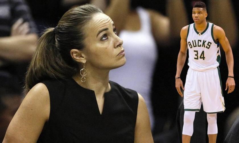 Γιατί η όμορφη Μπέκι δίπλα στον Γιάννη γράφει ιστορία στο NBA