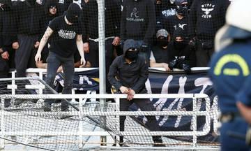 Οι οπαδοί του ΠΑΟΚ πέρασαν στο ΟΑΚΑ κόφτη για το συρματόπλεγμα