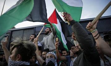 Διαδήλωση προς την ισραηλινή πρεσβεία για την αιματοχυσία στην Γάζα