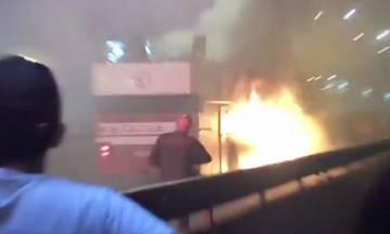 Απίστευτο! Παίκτης του Ερυθρού Αστέρα έβαλε φωτιά στο πούλμαν της ομάδας του