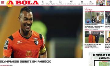 A Bola: «Φαμπρίτσιο ή Κλέμπερ για τον Ολυμπιακό»