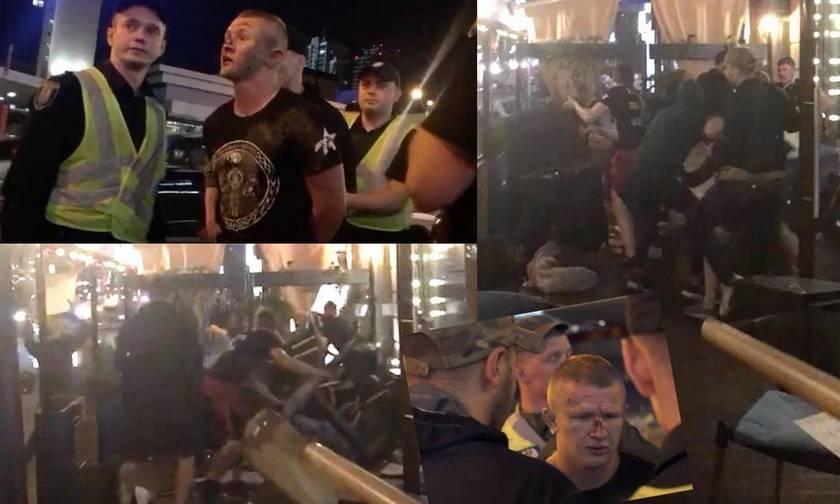 Επεισόδια στο Κίεβο - Επίθεση σε οπαδούς της Λίβερπουλ - Δείτε το βίντεο