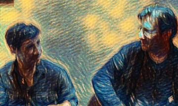 Θανάσης Παπακωνσταντίνου και Σωκράτης Μάλαμας στην Πλατεία Νερού
