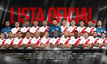 Μουντιάλ 2018: Οι «23» της αποστολής του Περού