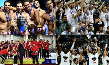 Κυρίαρχοι της Ευρώπης Ολυμπιακός και Ρεάλ Μαδρίτης (vid)
