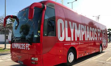 Νέο λουκ το πούλμαν του Ολυμπιακού για πολλά χιλιόμετρα