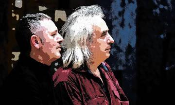 Γιάννης Αγγελάκας και Παύλος Παυλίδης στη Μονή Λαζαριστών
