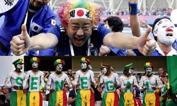 Η ντροπή των οπαδών. Διώξτε Ιάπωνες και Σενεγαλέζους από τα γήπεδα. Δείτε τι έκαναν
