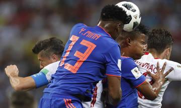 Το 1-0 της Κολομβίας με τον Γιέρι Μίνα (vid)