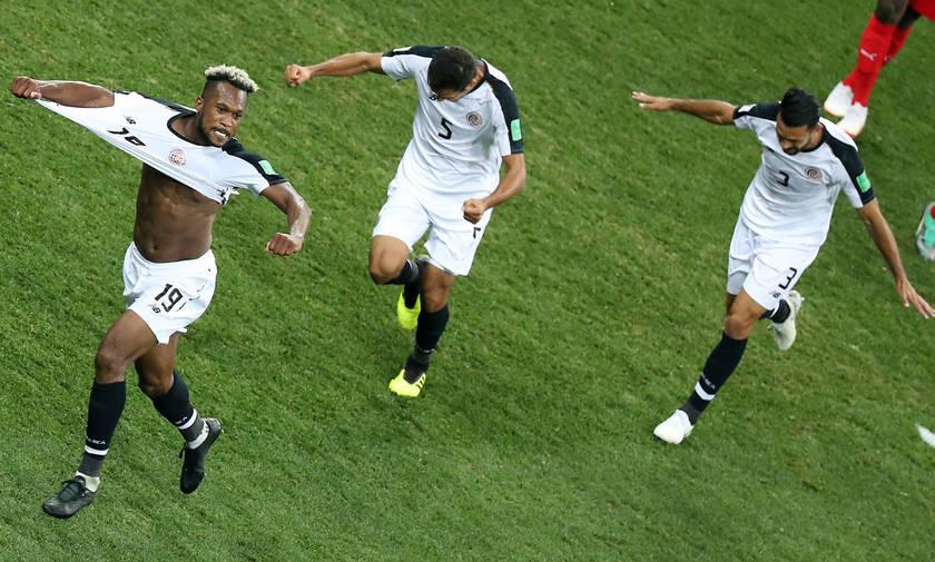 Ελβετία-Κόστα Ρίκα 2-2: Τους... φρέναραν οι «Τίκος»!
