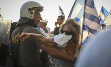 Πέτρες και χημικά στο συλλαλητήριο της Θεσσαλονίκης (vid)