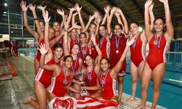 Πόλο: Πρωτάθλημα και στις Μίνι Κορασίδες ο Ολυμπιακός!