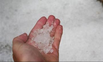 Πέλλα: Χαλάζι και βροχή κατέστρεψαν περίπου 70% των κερασιών
