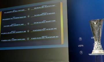 Europa League: Όλη η κλήρωση του Γ' προκριματικού γύρου