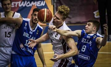 Ήττα της Ελλάδας από τη Λετονία στο Ευρωπαϊκό Πρωτάθλημα Εφήβων