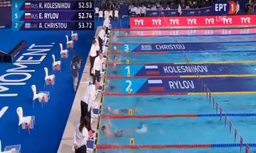 Ευρωπαϊκό Πρωτάθλημα Κολύμβησης: Το βίντεο της εκπληκτικής εμφάνισης του Χρήστου και η απονομή