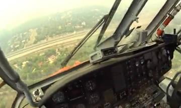 Τρομερό βίντεο από πιλότο ελικοπτέρου στις πυρκαγιές της 23ης Ιουλίου