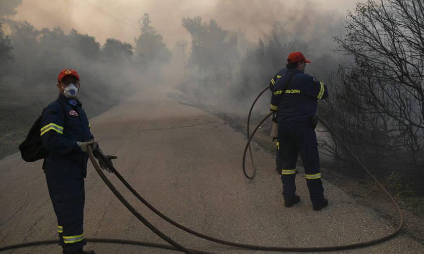 Εύβοια: Η φωτιά κινείται προς τα Ψαχνά