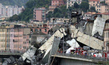 Γένοβα: Τουλάχιστον 35 οι νεκροί από την κατάρρευση της γέφυρας