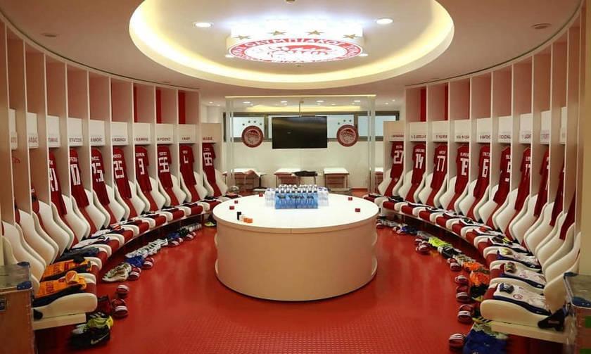 Έτοιμα τα αποδυτήρια περιμένουν τους παίκτες του Ολυμπιακού (pics)