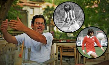Ο Θανάσης Παπακωνσταντίνου «παίζει μπάλα» με Μπεστ, Δεληκάρη και Καραπιάλη