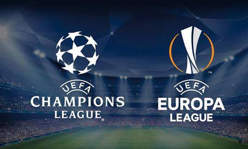 Champions League/Europa League: Τα αποτελέσματα των αντιπάλων της Ελλάδας στην κατάταξη
