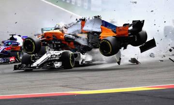 Formula 1: Τρομακτική εκκίνηση για Αλόνσο, πέρασε πάνω από τον Λεκλέρκ