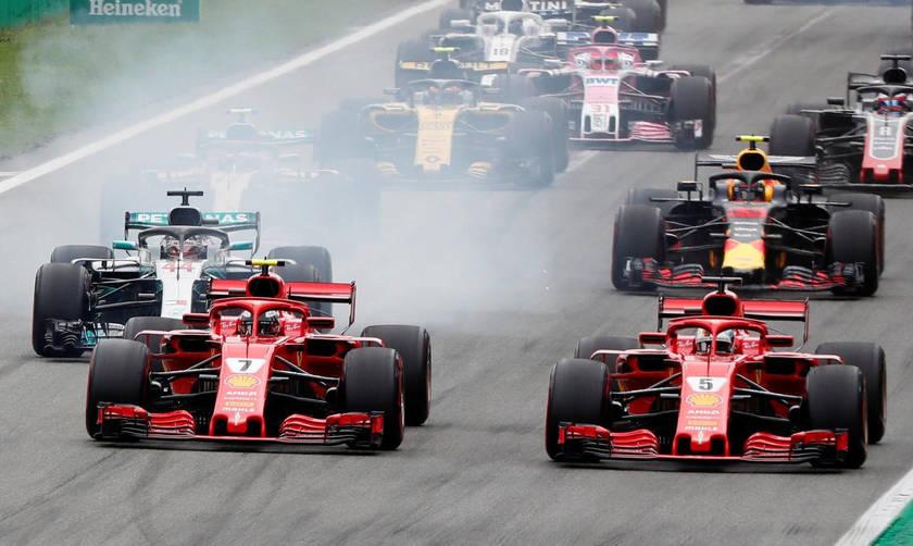 Formula 1: Σύγκρουση Φέτελ με Χάμιλτον στην εκκίνηση της Μόντσα (vid)