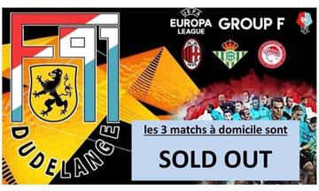 Η Ντουντελάνζ ξεπούλησε όλα τα εισιτήρια για το Europa League