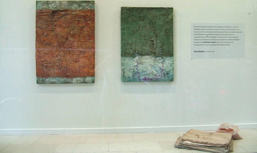 Εγκατάσταση της Μαρίας Πασχαλίδου στις Βιτρίνες Τέχνης ΟΤΕ στη Θεσσαλονίκη