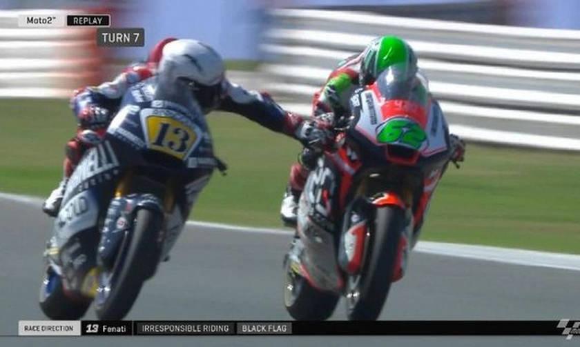 Μoto GP: Ο Φενάτι πάτησε το φρένο του Μάντζι ενώ έτρεχαν με 250 χλμ την ώρα (vids)