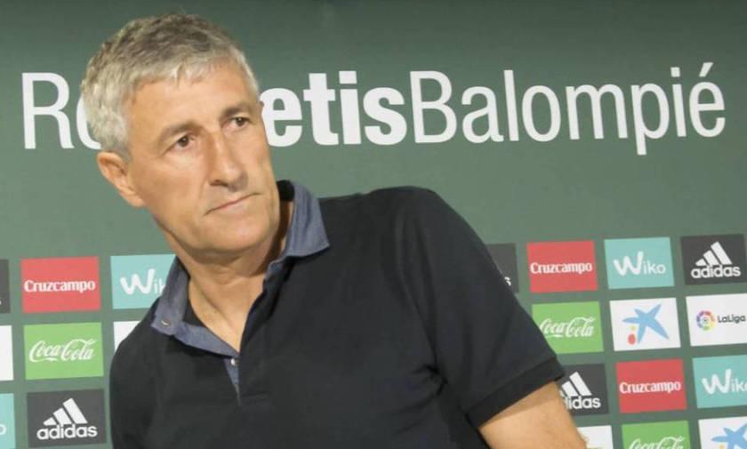 Ο προπονητής της Μπέτις ξεκινά ροτέισον ενόψει Ολυμπιακού