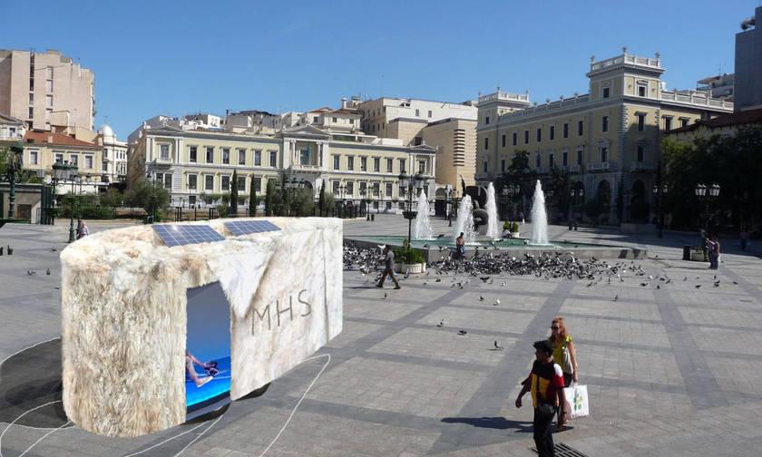Microclimatic Heat Shelter: Εγκατάσταση στην Μπιενάλε της Αθήνας