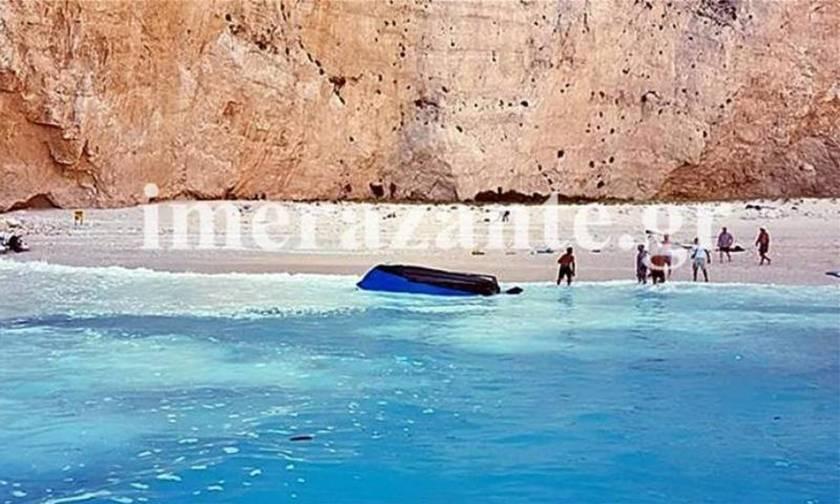 ΕΚΤΑΚΤΟ: Έπεσε βράχος στο «Ναυάγιο» στην Ζάκυνθο - Τραυματίστηκε τουρίστρια